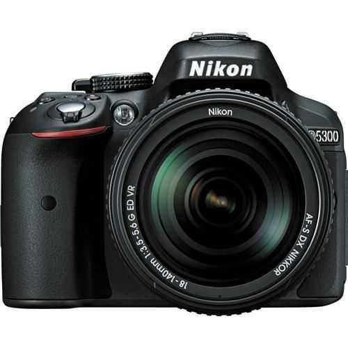 Nikon D5300 DSLR Camera - Black w/18-140mm Lens